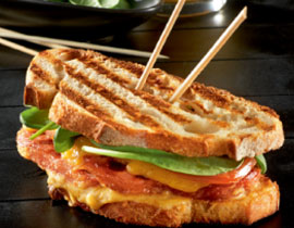 Grilled Club Sandwich with Bacon